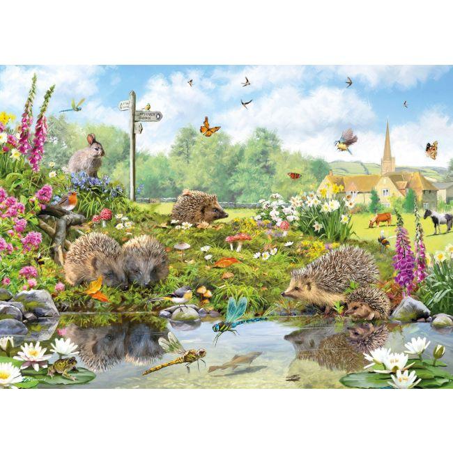Otter House - Jigsaw Rectangular - Riverside Wildlife (L)