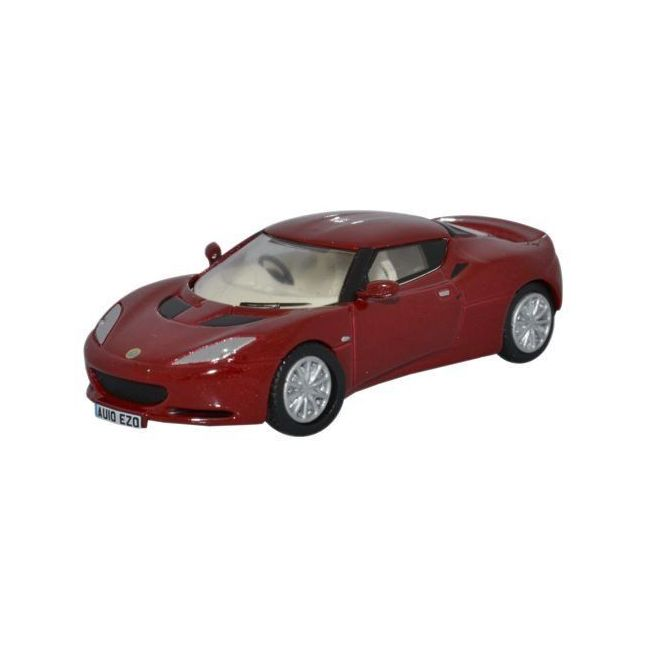Oxford Diecast Lotus Evora Canyon Red/Oyster Toy Car
