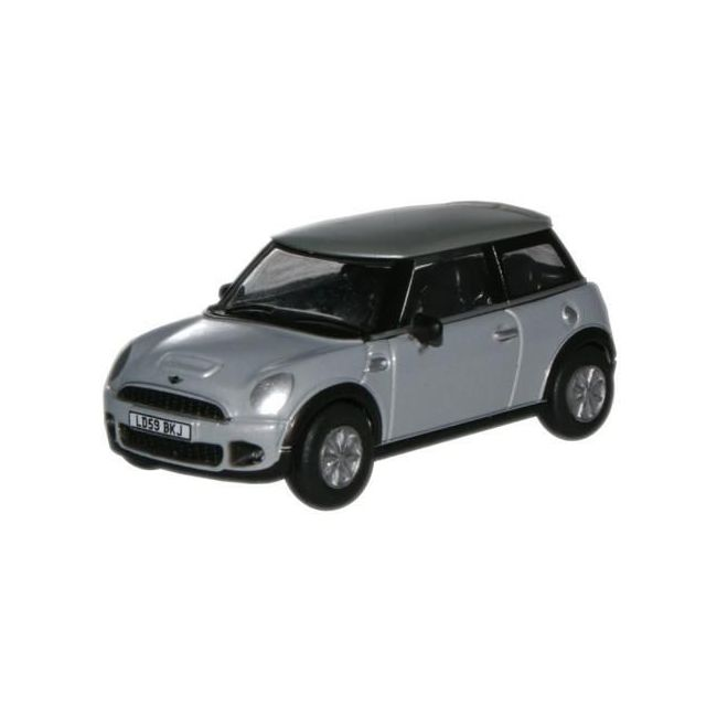 Oxford Diecast Pure Silver Mini Toy Car