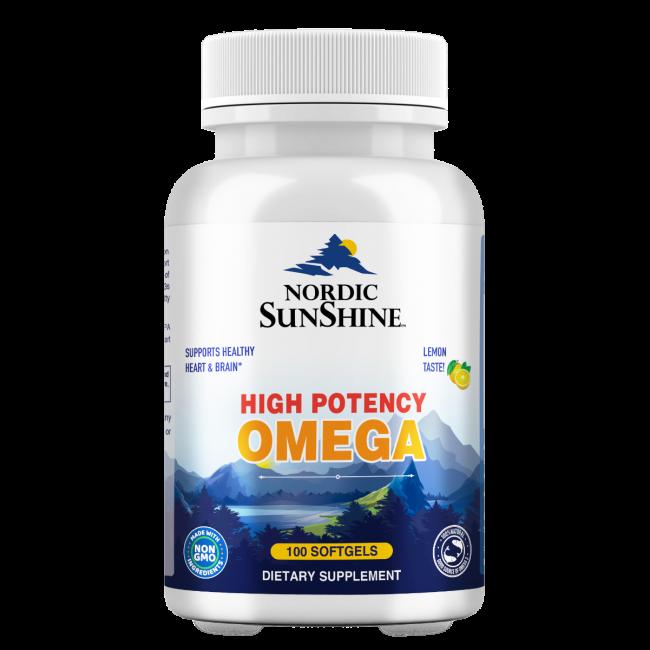 Nordic Sunshine - High Potency Omega 1280mg - 100 Softgels