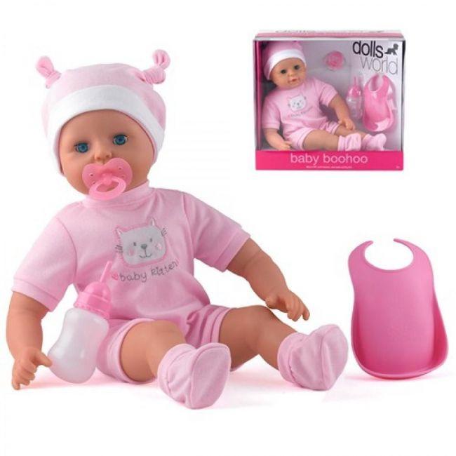 "Dollsworld Pink Baby Boohoo 46cm (18"") Doll"