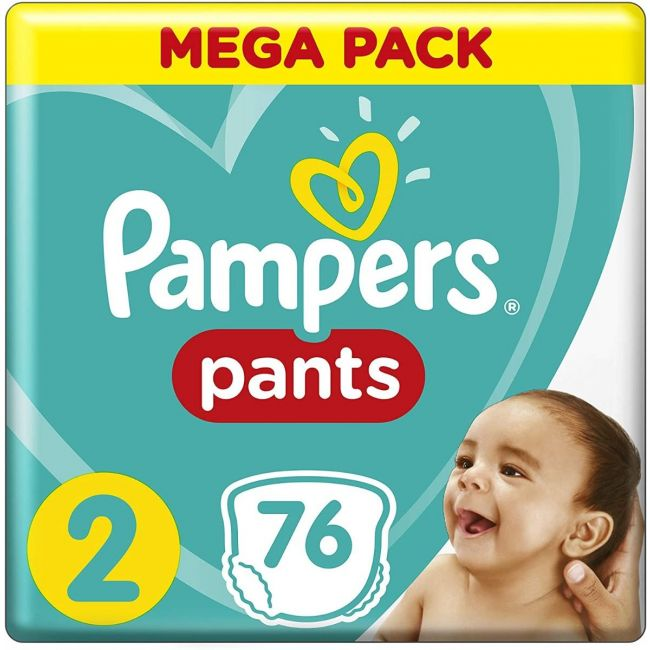 Pampers - Pants Diapers, Size 2, Mega Pack - 76 Pieces