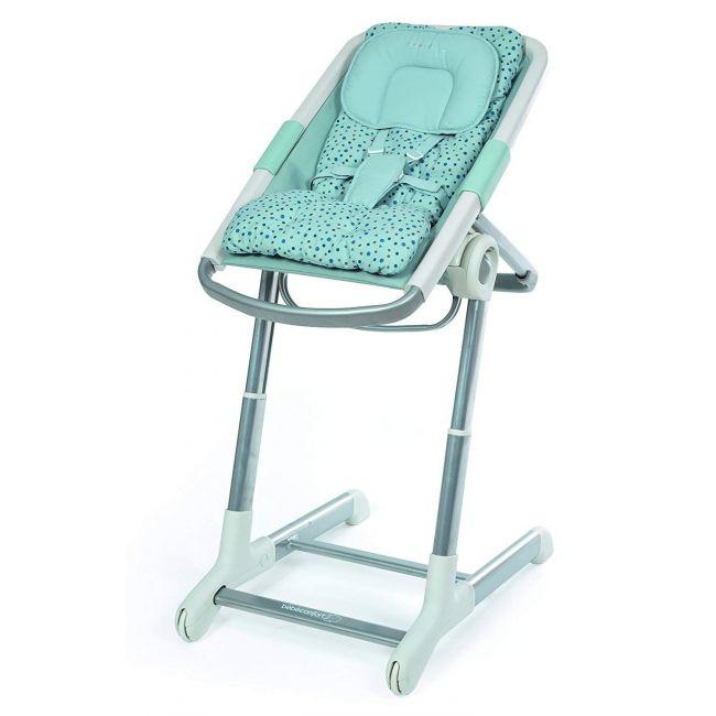 Bebe Confort Blue Keyo Rocker Seat/High Chair Drops and Dots