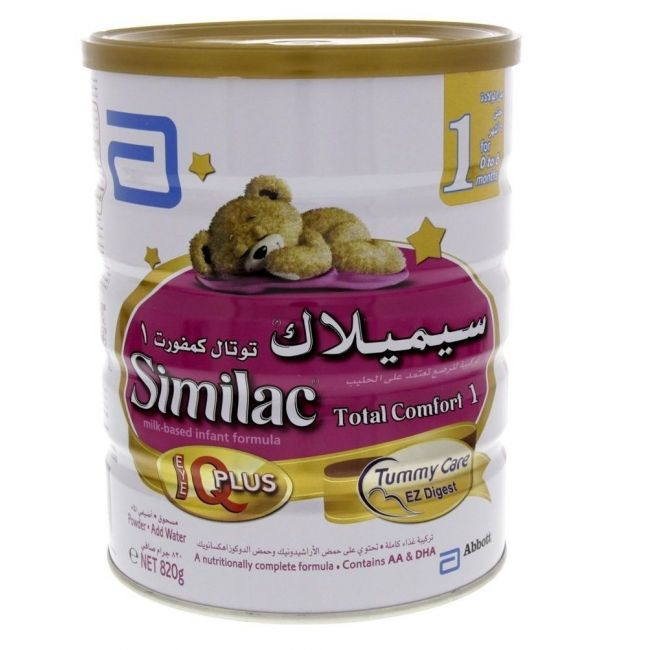 Similac Total Comfort 1 Infant Formula Milk 820G From 0-6 Months