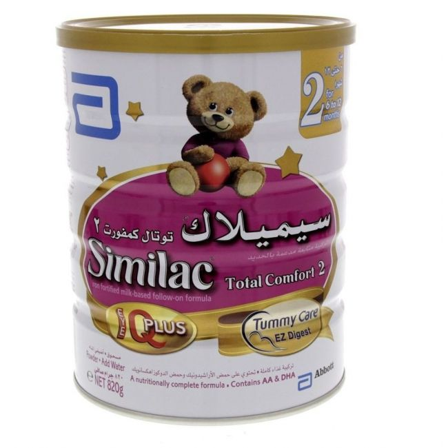 Similac Total Comfort 2 Follow On Formula Milk 820G For 6-12 Months
