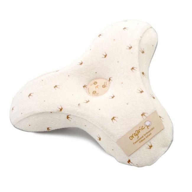 Alpremio - 3 Step Baby Pillow Organic Cotton Crown - Cream