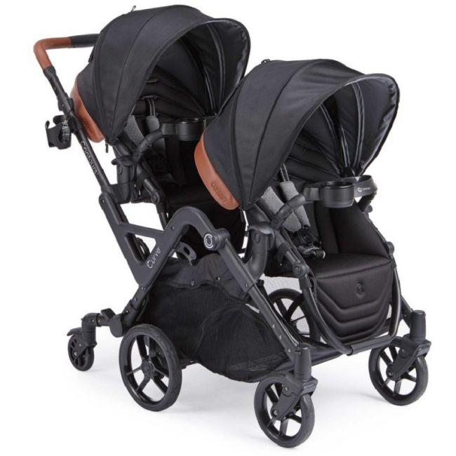 Contours - Curve Double Stroller - Jet Black