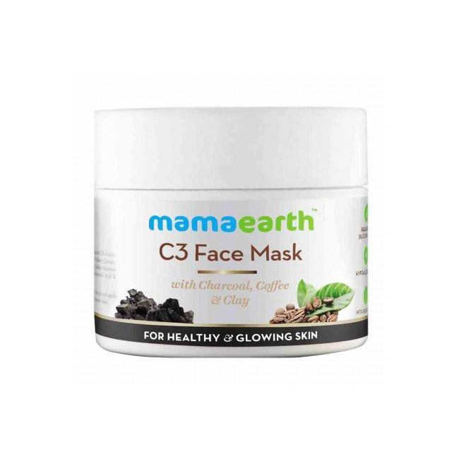 Mama Earth - Charcoal Coffee And Clay Face Mask 100 Ml
