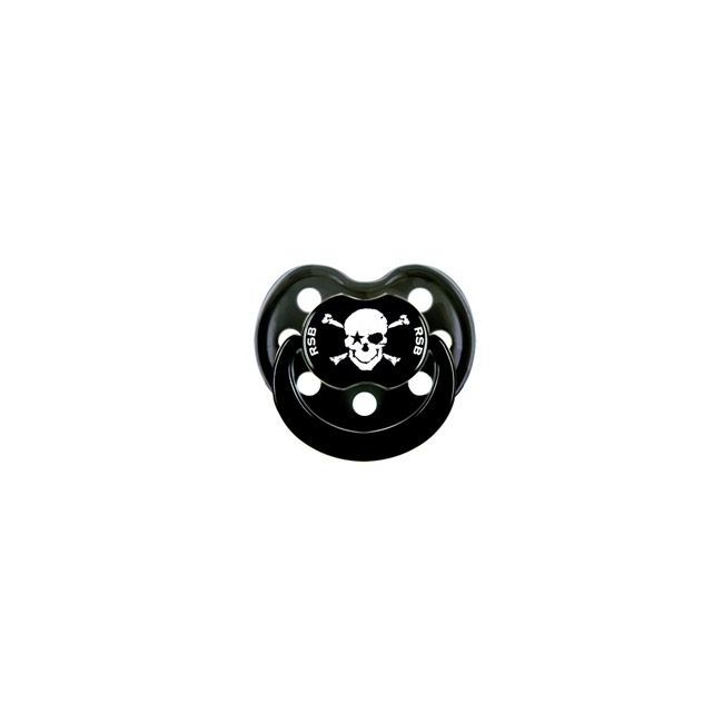 Rock Star Baby Pacifier Pirate Black Size 1 Silicone