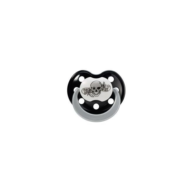 Rock Star Baby Pacifier Tattoo Pirate Size 2 Silicone