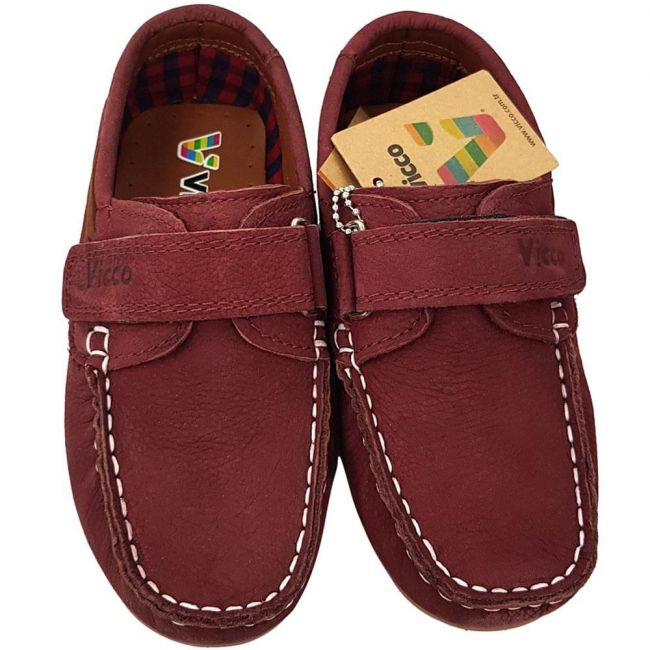 Vicco 909.18Y.305 Boy Leather Shoes - D.Red