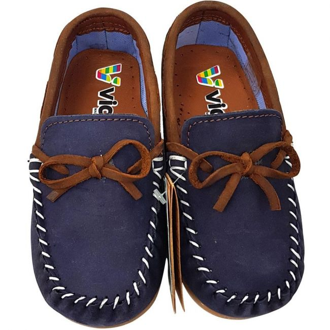 Vicco 910.18Y.300 Boy Leather Shoes - Navy-Brown