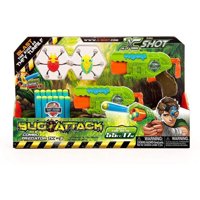 X Shot - Bug Attack Combo Pack Predator Tk 3 2 Shooters 12 Darts 2 Bugs