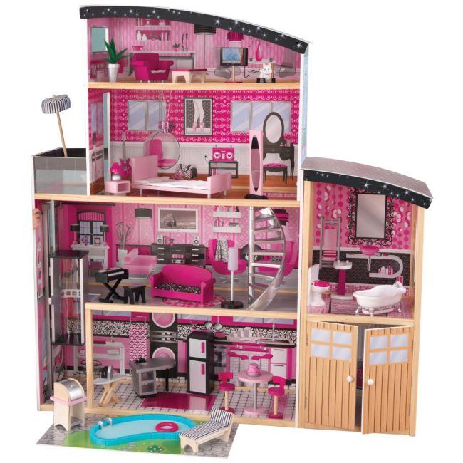 Kidkraft - Sparkle Mansion Wooden Dollhouse for Girls