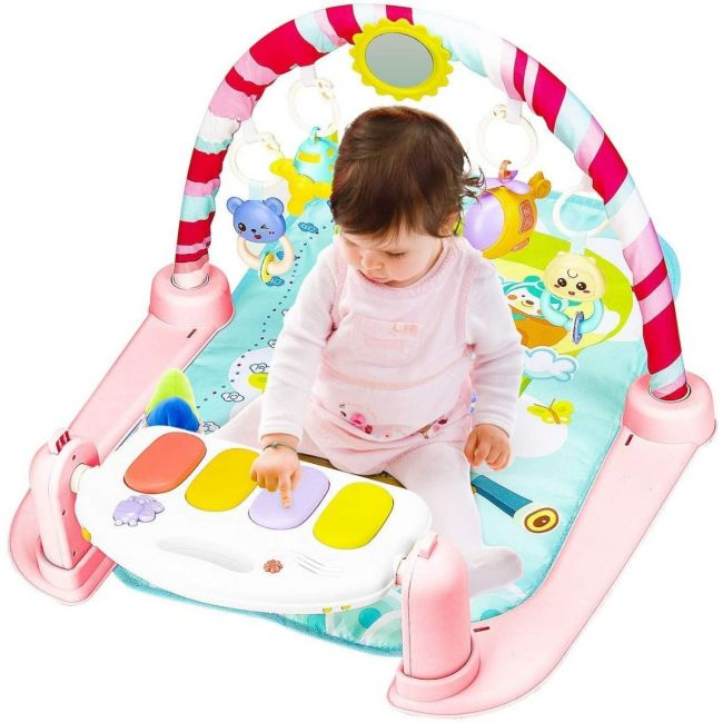Little Angel - Baby Toy Fitness Baby Activity Piano Gym - Pink