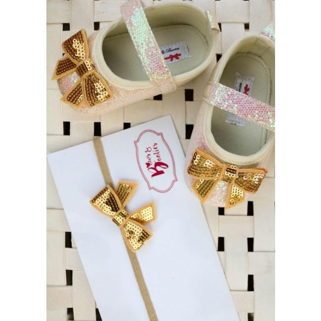 Bows & Booties Matching Headbands & Baby shoes - Sandbow