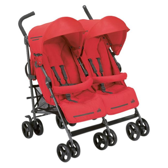 Cam Red Twin Flip Push Chair
