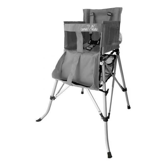 Camel Kidz - Travel High Chair - Silver Metallic Gray