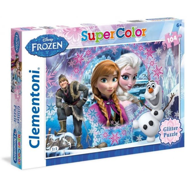 Clementoni Frozen Queen Of The North Glitter Puzzle - 104pcs