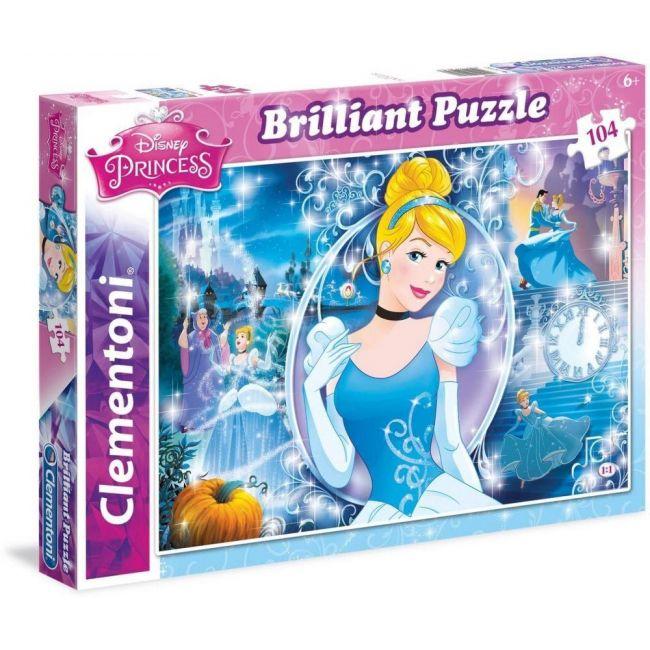 Clementoni Olografico Princess Cinderella Jigsaw Puzzle - 104pcs