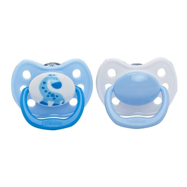 Dr Browns Ortho Classic Shield Pacifier Blue Stage 2 + FREE Stage 3 Pacifier 2pcs