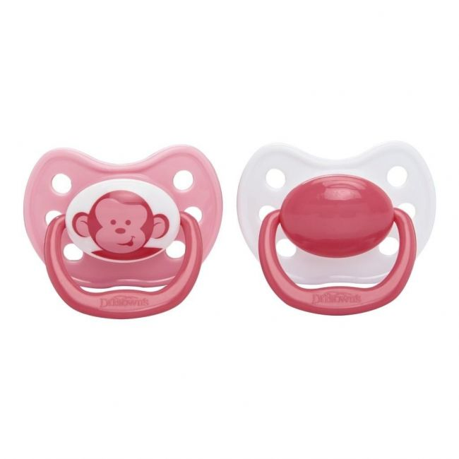Dr Browns Pink Ortho Classic Stage 3 Shield Pacifier - +12m - 2pcs