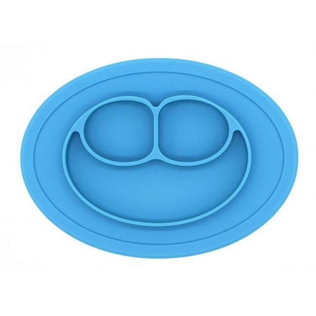 Eazy Kids Blue Oval Plate