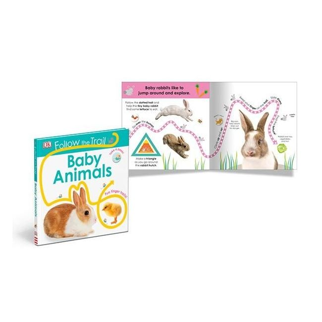 Follow The Trail Baby Animals - Kids Book