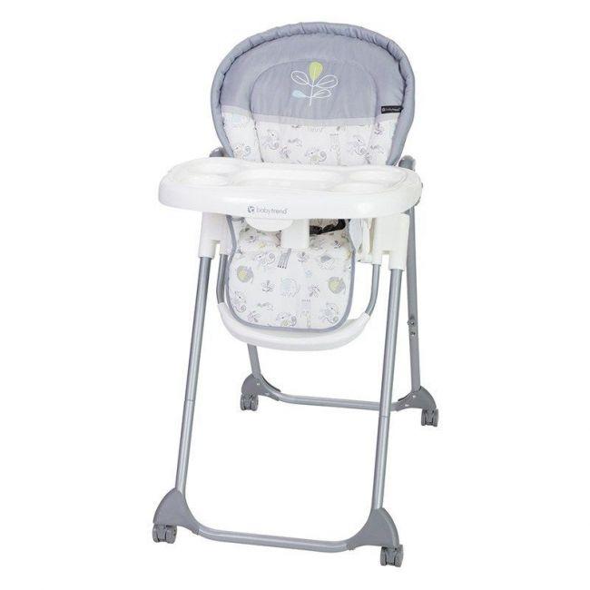 Baby Trend White/Grey HI-Lite High Chair Jungle Joy