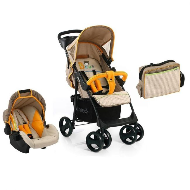 Hauck Bear Beige Shopper SLX Travel System With Bag