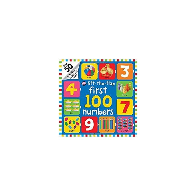 Lift-The-Flap First 100 Number - Kids Book