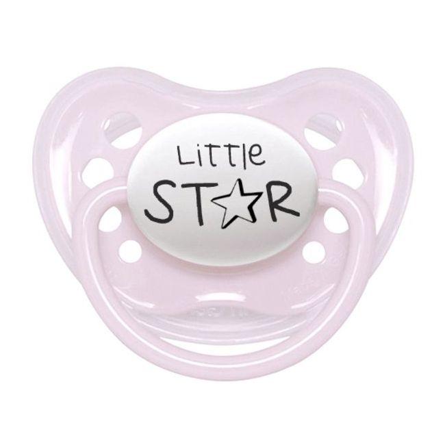 Littlemico Pink Little Star pacifier 0-6M