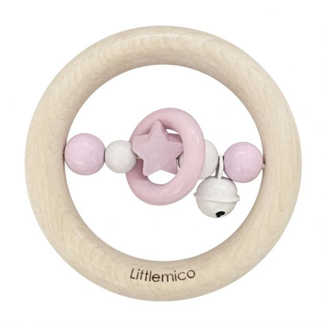 Littlemico Pink Teether With Bell