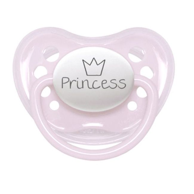 Littlemico Pink Princess W-Crown Pacifier 0-6M