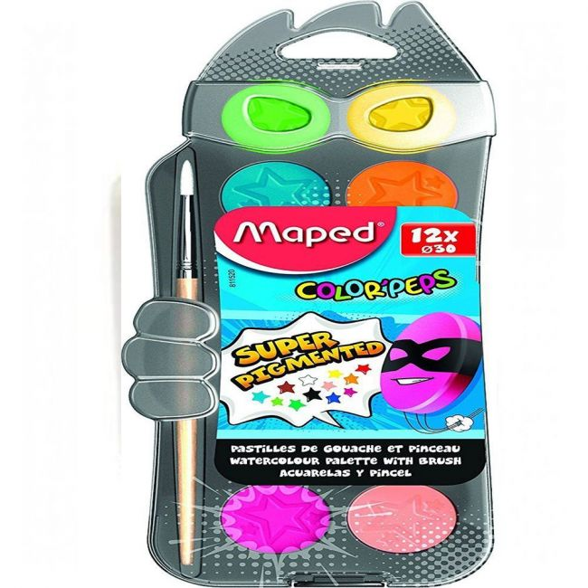 Maped Color Peps WaterColors- 30mm X 12Color