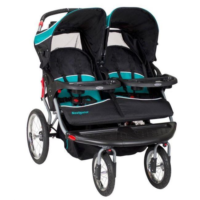 Baby Trend Black/Blue Navigator Jogger Stroller -Tropic