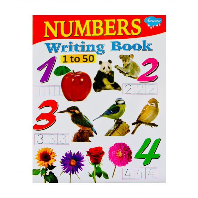 Sawan Numbers Writing Book 1 to 50 - Children's Book