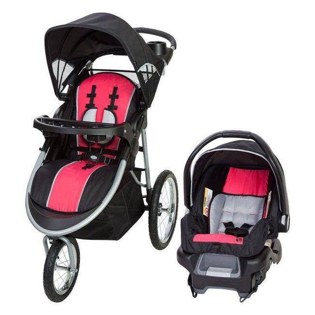 Baby Trend Pathway 35 Jogger Travel System - Optic Pink