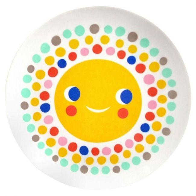 Petit Monkey Sun Ivory Melamine Plate