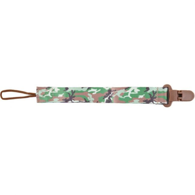 Pixie Army Print Pacifier Holder
