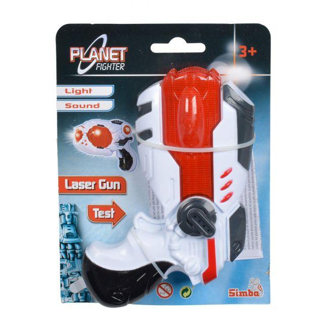 Simba Planet Fighter Laser Gun 16Cm, 2Assrt Toy