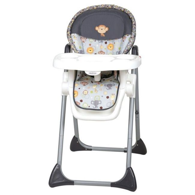 Baby Trend Grey/White Sit-Right High Chair Bobble Heads