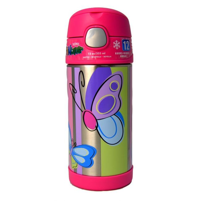 Thermos Funtainer Bottle Stainless Steel Hydration Bottle 355ml Butterfly