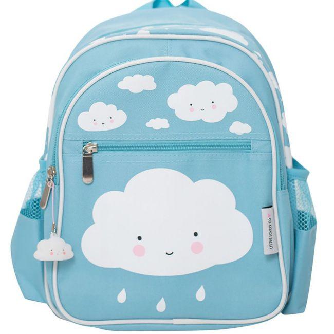 A Little Lovely Company School Backpack Cloud Blue