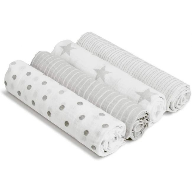 Aden + Anais - 4 Pack Classic Muslin Swaddles Dusty
