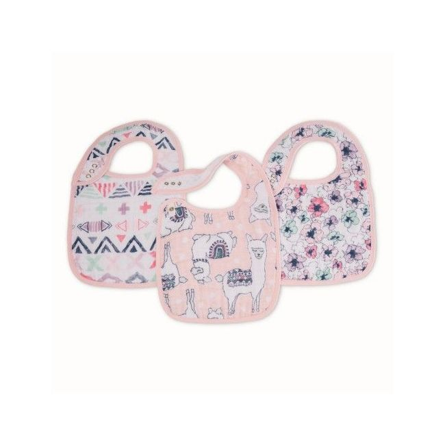 Aden + Anais - Classic 3 Pack Snap Bibs Trail Blooms