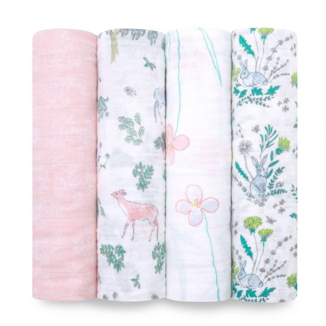 Aden + Anais - Classic 4 Pack Swaddles Forest Fantasy