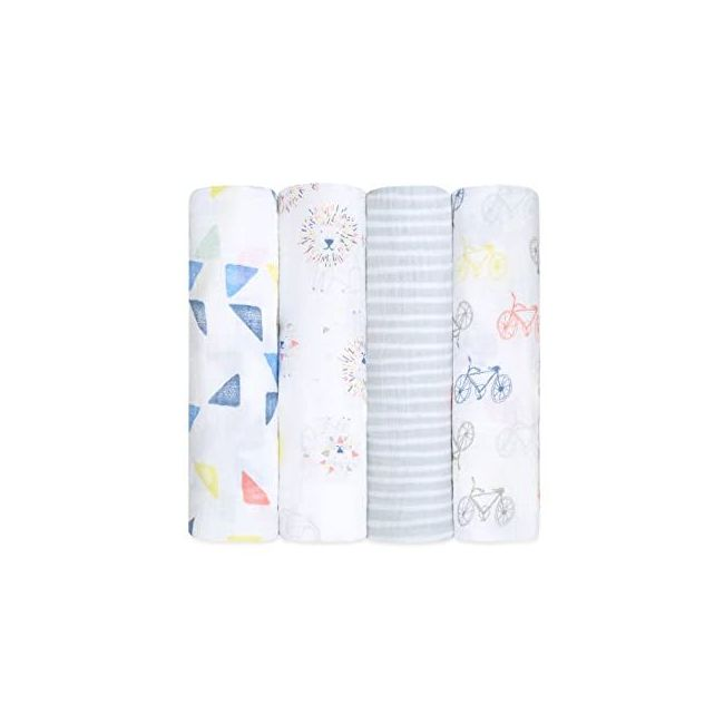 Aden + Anais - Classic 4 Pack Swaddles Leader Of The Pack