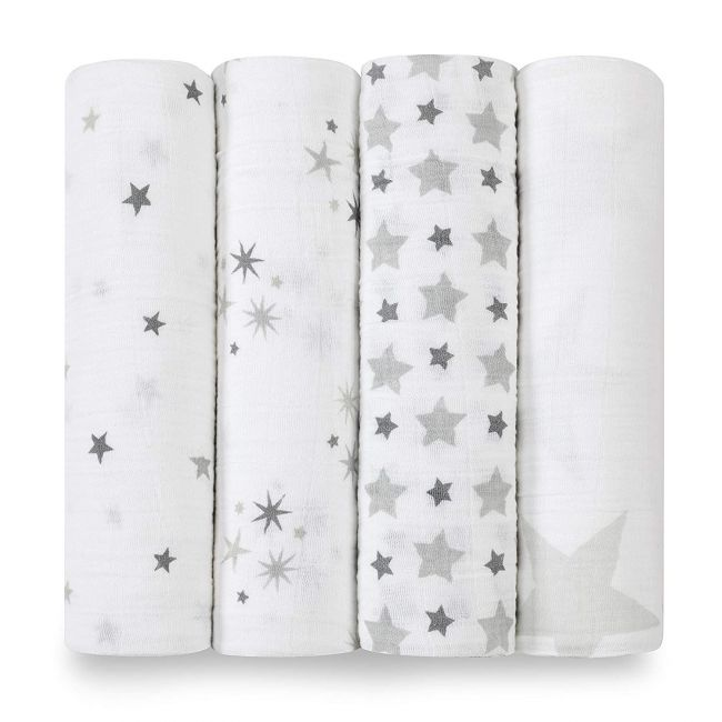 Aden + Anais - Classic 4 Pack Swaddles Twinkle