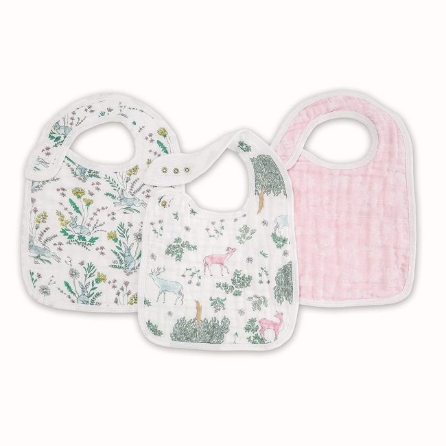 Aden + Anais - Classic Snap Bibs 3 Pack Forest Fantasy